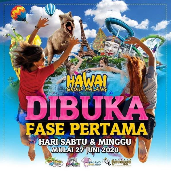 hawai waterpark buka lagi